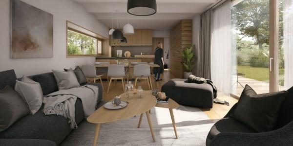 Návrh interiéru do moderního rodinného domu