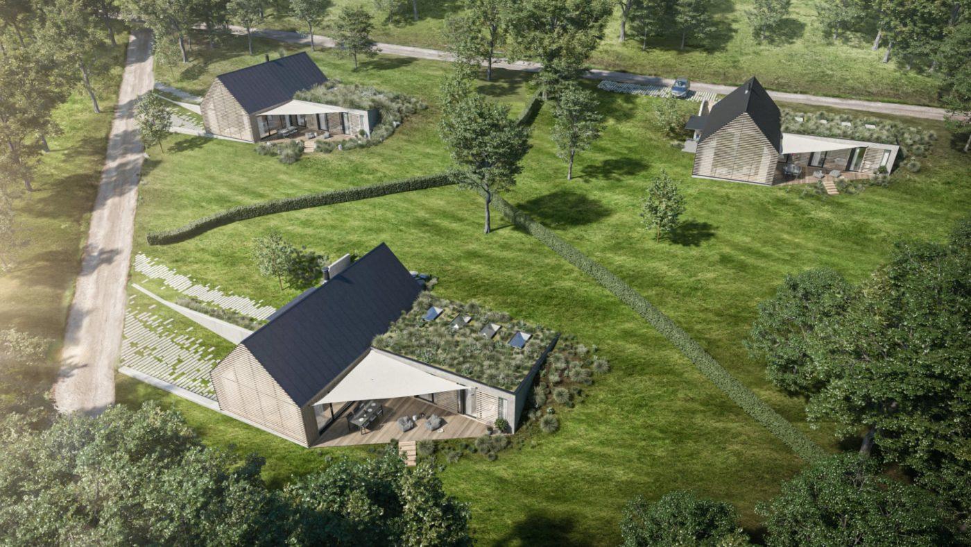 projekt beskydy luxusní rodinné domy ve svahu na klíč
